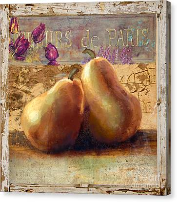 Pears Still Life Canvas Print by Betty LaRue