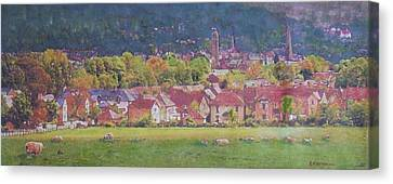 Canvas Print featuring the painting Peebles Vista by Richard James Digance
