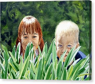 Peekaboo Canvas Print by Irina Sztukowski