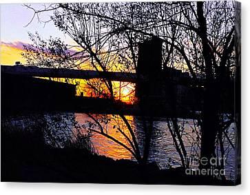 Peeking At The Bridge Canvas Print by Kendall Eutemey