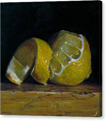Peeled Lemon Canvas Print by Jeffrey Hayes