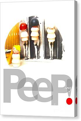 Peeping Canvas Print by Ricky Sencion