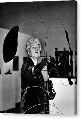Peggy Guggenheim Adjusts Alexander Canvas Print by Everett