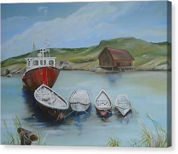 Peggy's Cove Canvas Print by Joyce Reid