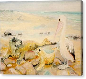 Pelican Muse Canvas Print