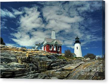 Pemaquid Lighthouse Canvas Print by Alana Ranney