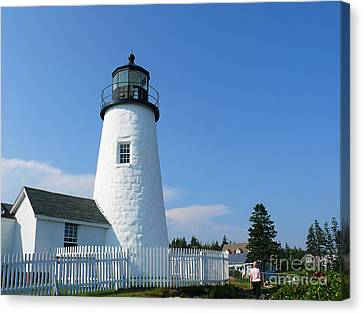 Canvas Print featuring the photograph Pemaquid Lighthouse by Jeanne  Woods