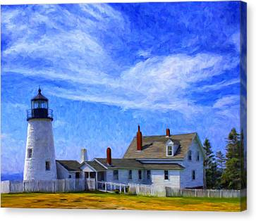 Pemaquid Point Lighthouse Canvas Print by Dominic Piperata
