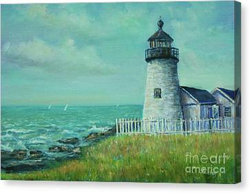 Pemaquid Point Lighthouse Canvas Print by Katalin Luczay