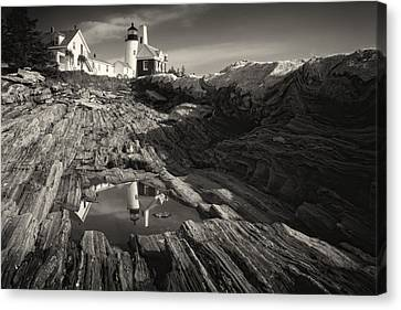 Pemaquid Point Reflection Canvas Print by George Oze