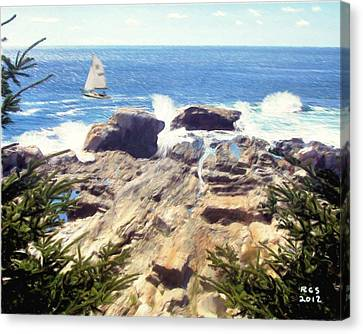 Pemaquid Point Canvas Print by Richard Stevens