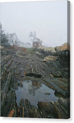 Pemaquid Reflection Canvas Print by Mary Hershberger