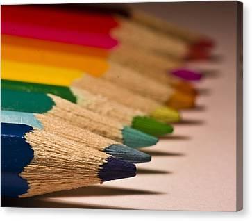 Pencil Rainbow Canvas Print by Dr David James Killock