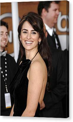 Penelope Cruz At Arrivals For Arrivals Canvas Print by Everett