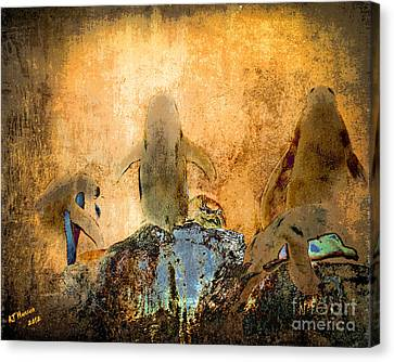 Pittsburgh Zoo Canvas Print - Penguin Quorum by Arne Hansen