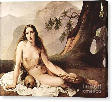 Penitent Mary Magdalene Canvas Print by Pg Reproductions