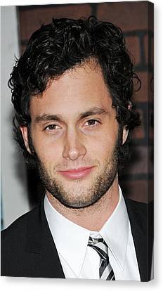 Penn Badgley At Arrivals For Sherlock Canvas Print by Everett