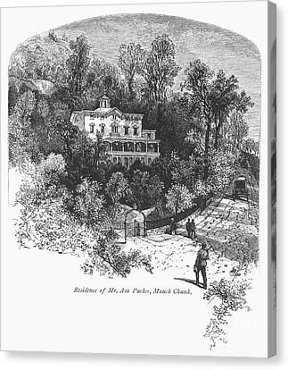 Pennsylvania: House, C1876 Canvas Print by Granger