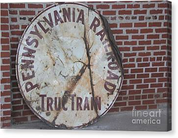 Pennsylvania Railroad Signe Canvas Print by Yumi Johnson