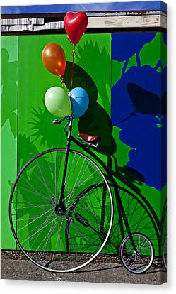 Penny Farthing And Balloons Canvas Print