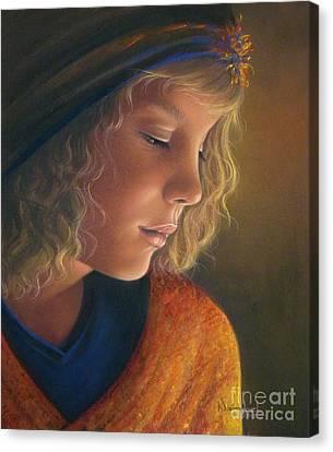 Pensive Natalia Canvas Print by Nanybel Salazar