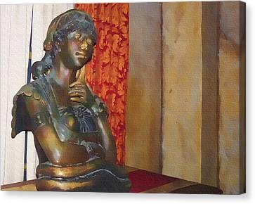 Pensive Statue Canvas Print