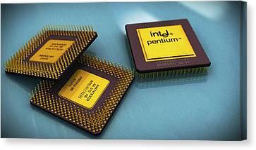Pentium Is Still Awesome Canvas Print by Rimantas Vaiciulis
