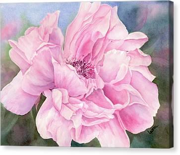 Peony II Canvas Print by Leona Jones