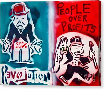 People Over Profits Canvas Print by Tony B Conscious