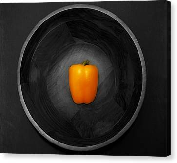 Pepper In Bowl Canvas Print by Obi Martinez