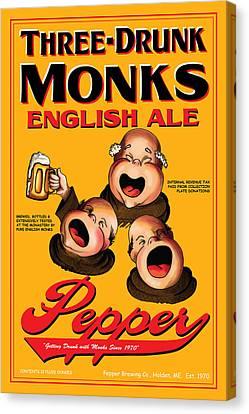 Pepper Three Drunk Monks Canvas Print by John OBrien
