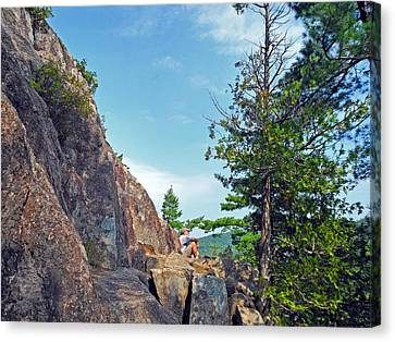 Perched Over Echo Lake Canvas Print by Lynda Lehmann