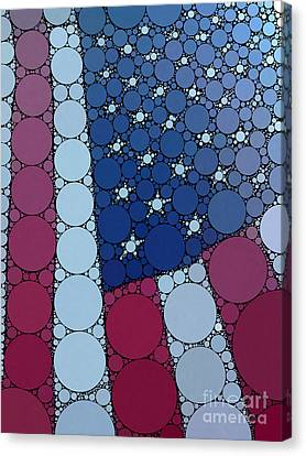 Percolated American Flag Canvas Print by Christine Segalas
