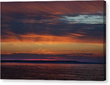 Perdido Pass Red Sunrise Canvas Print by Michael Thomas