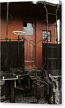 Pere Marquette Caboose Canvas Print by Scott Hovind