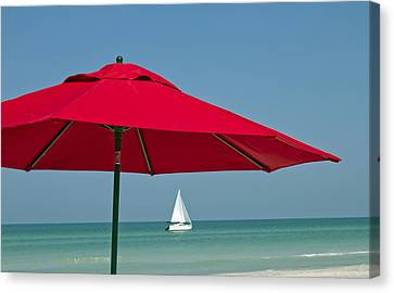 Perfect Beach Day Canvas Print by Elvira Butler