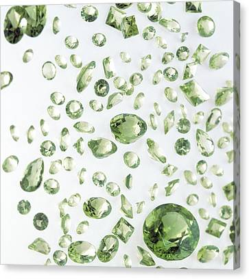 Peridot Gemstones Canvas Print