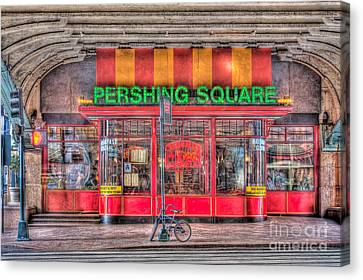 Pershing Square Central Cafe I Canvas Print by Clarence Holmes