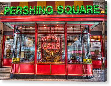 Pershing Square Central Cafe II Canvas Print by Clarence Holmes
