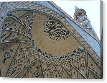 Persian Mosque Canvas Print by Tia Anderson-Esguerra