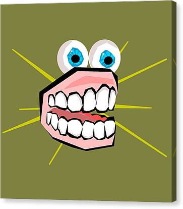 Personality Teeth Canvas Print by Jera Sky