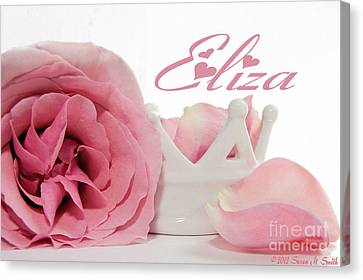 Personalized Princess Petals Canvas Print