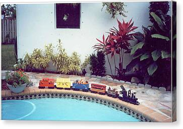 Personalized Trains Canvas Print