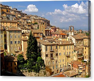 Perugia Italy - 01 Canvas Print by Gregory Dyer