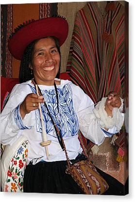 Peruvian Weaver Canvas Print
