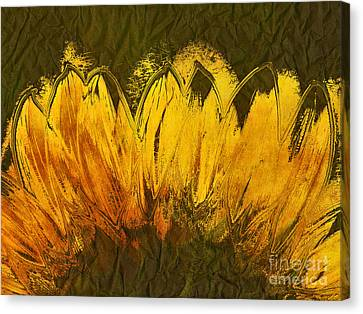 Textured Florals Canvas Print - Petales De Soleil - A43t02b by Variance Collections