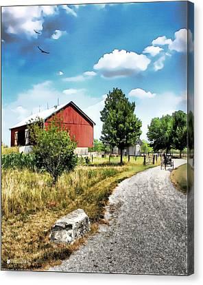 Peter Stuckey Farm Canvas Print by Tom Schmidt