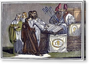 Peter Waldo (d. C1218) Canvas Print by Granger
