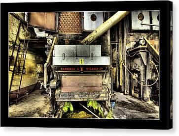 Canvas Print featuring the digital art Peters Factory 02 by Kevin Chippindall