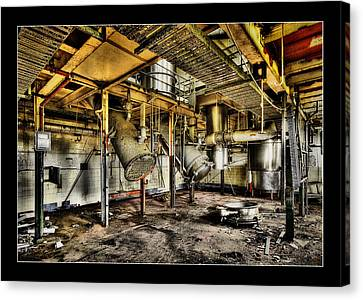 Canvas Print featuring the digital art Peters Factory 03 by Kevin Chippindall